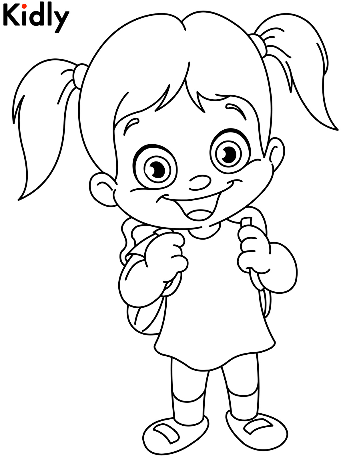 coloring pages of little girls bluebonkers girl coloring pages skipping off to school pages girls little coloring of