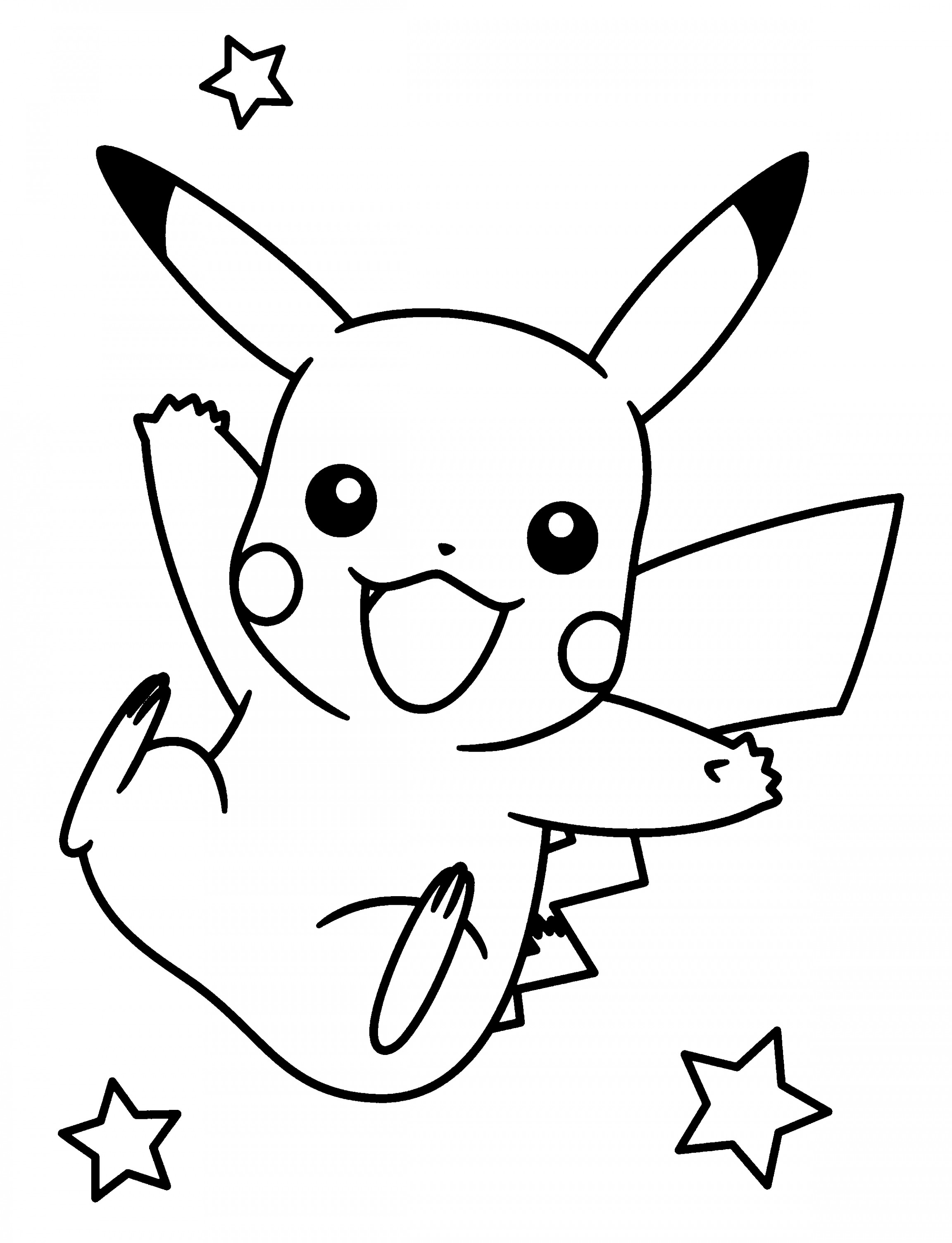 coloring pages of pikachu cute pikachu coloring pages at getdrawings free download pikachu of coloring pages