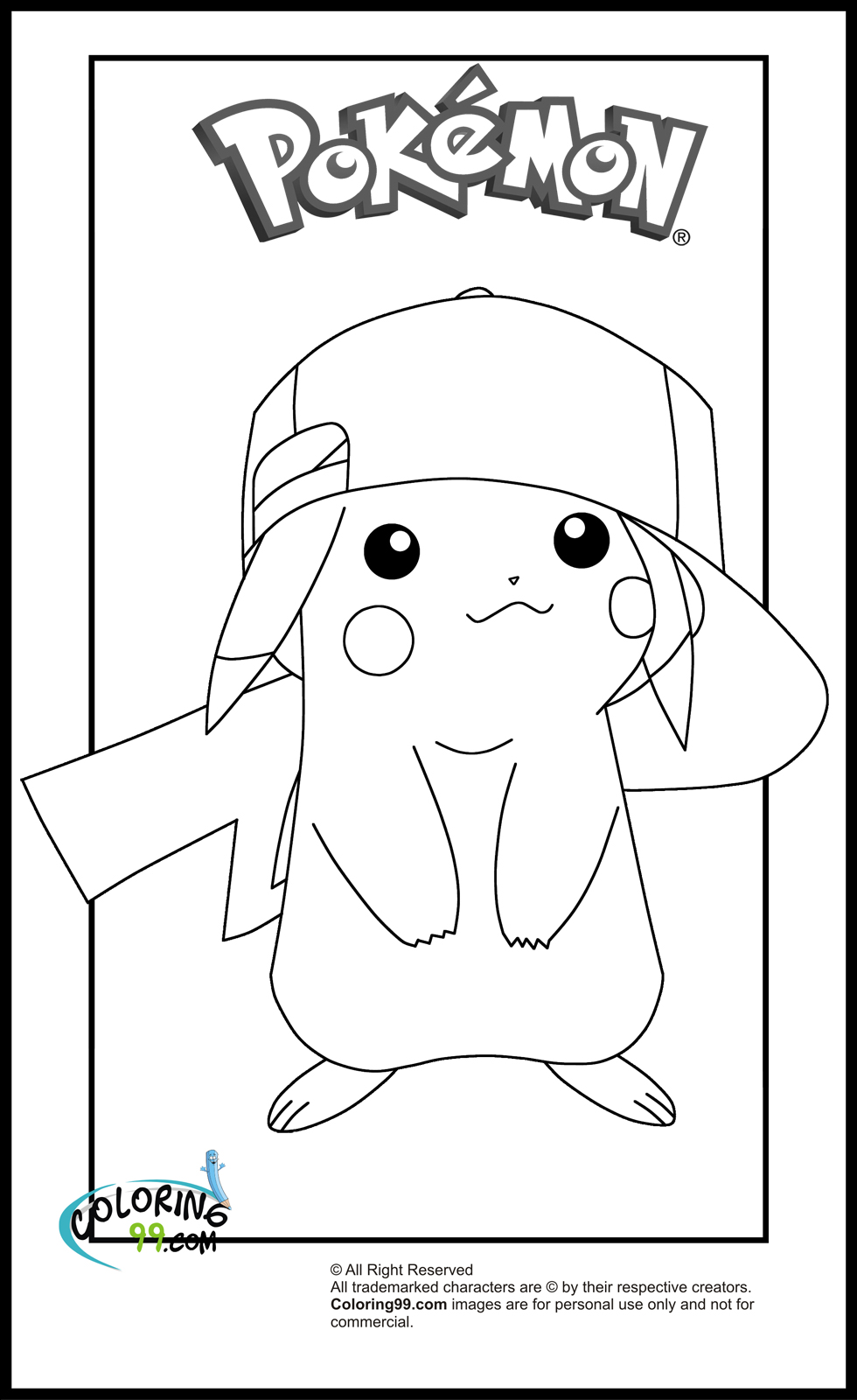 coloring pages of pikachu printable pikachu coloring pages for kids cool2bkids pages pikachu of coloring