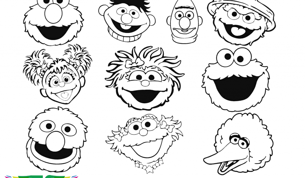 coloring pages of sesame street characters sesame street characters vector at getdrawings free download sesame of coloring pages street characters