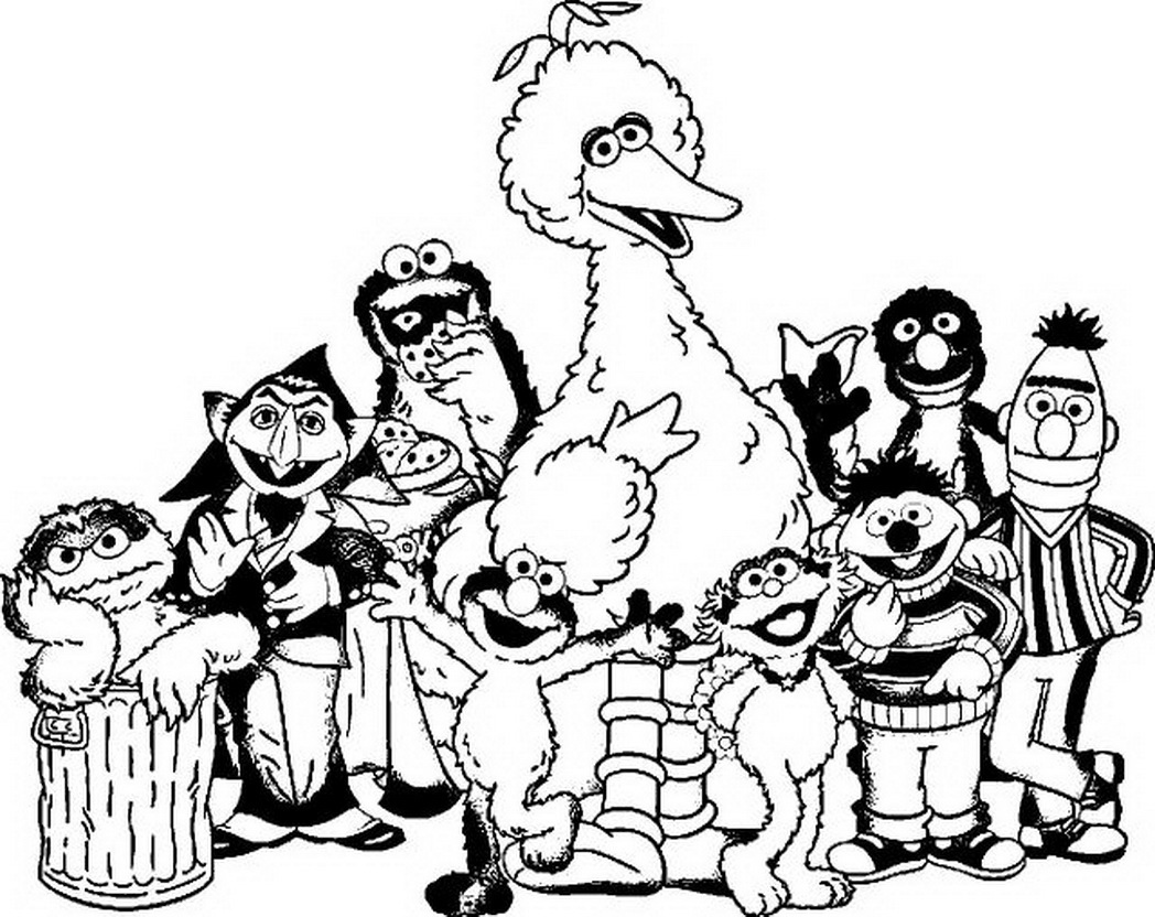coloring pages of sesame street characters sesame street coloring pages pages coloring of street sesame characters