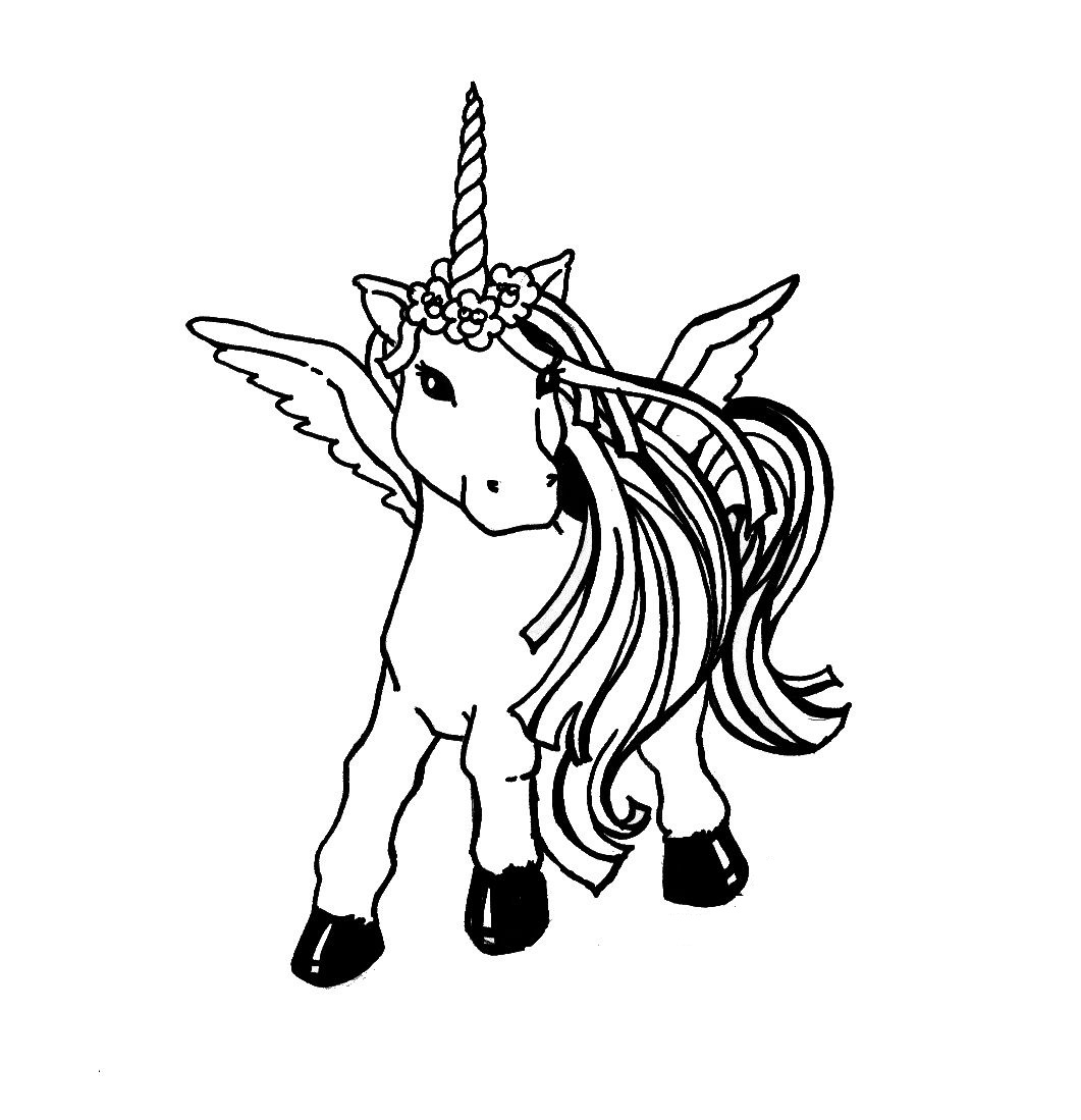 coloring pages of unicorns a magical unicorn a coloring page taianomainen pages coloring of unicorns
