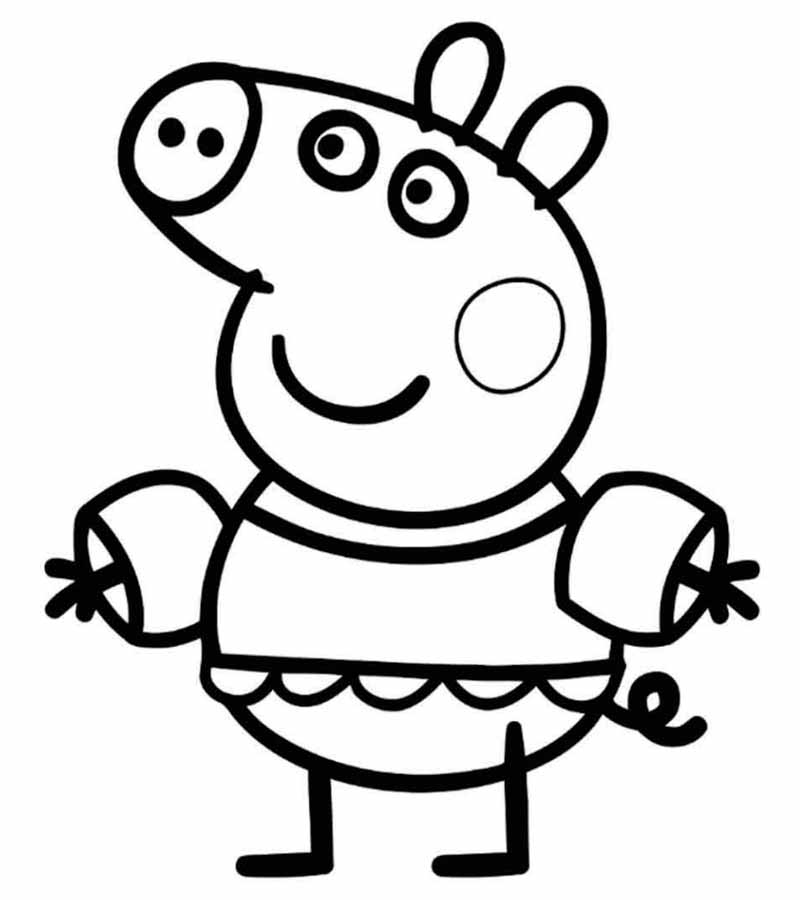 coloring pages peppa pig peppa pig coloring pages print for free wonder day pig pages coloring peppa