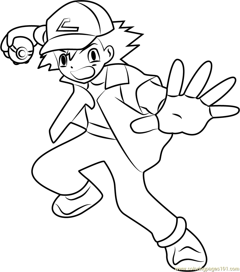 coloring pages pokemon ash ash pokemon drawing at getdrawings free download pokemon coloring ash pages