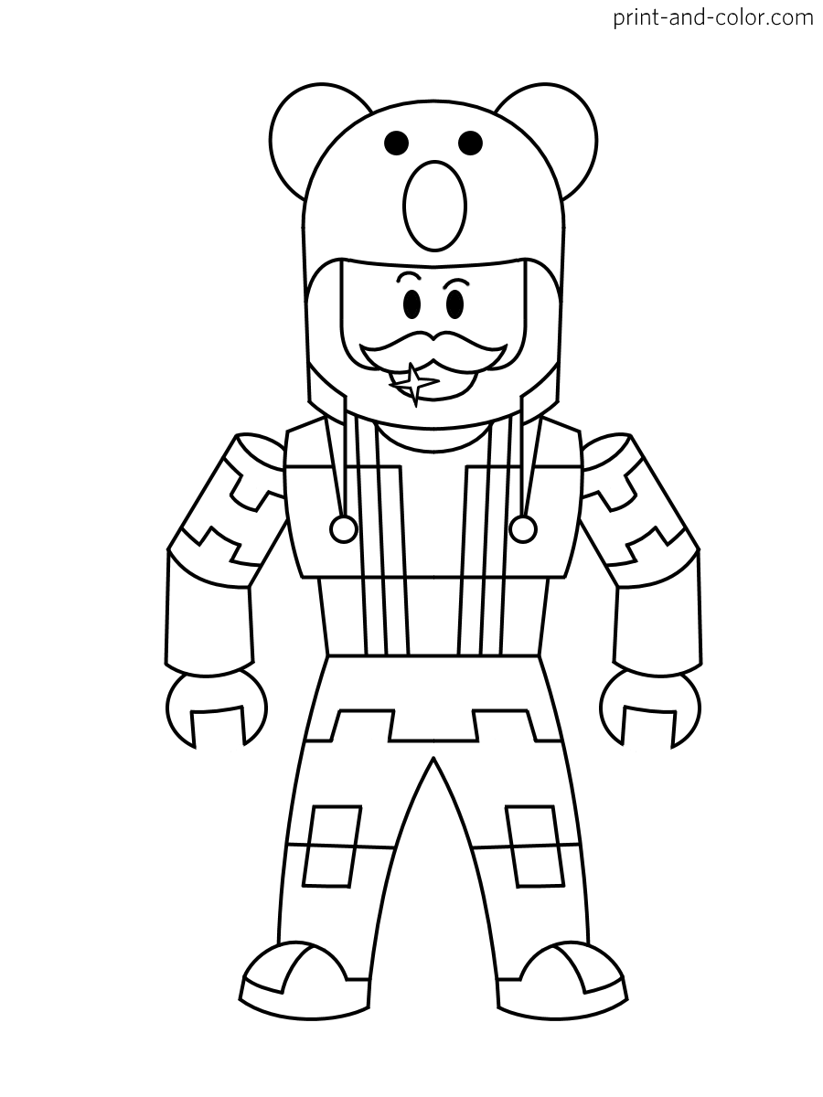 coloring pages roblox roblox coloring pages print and colorcom coloring roblox pages