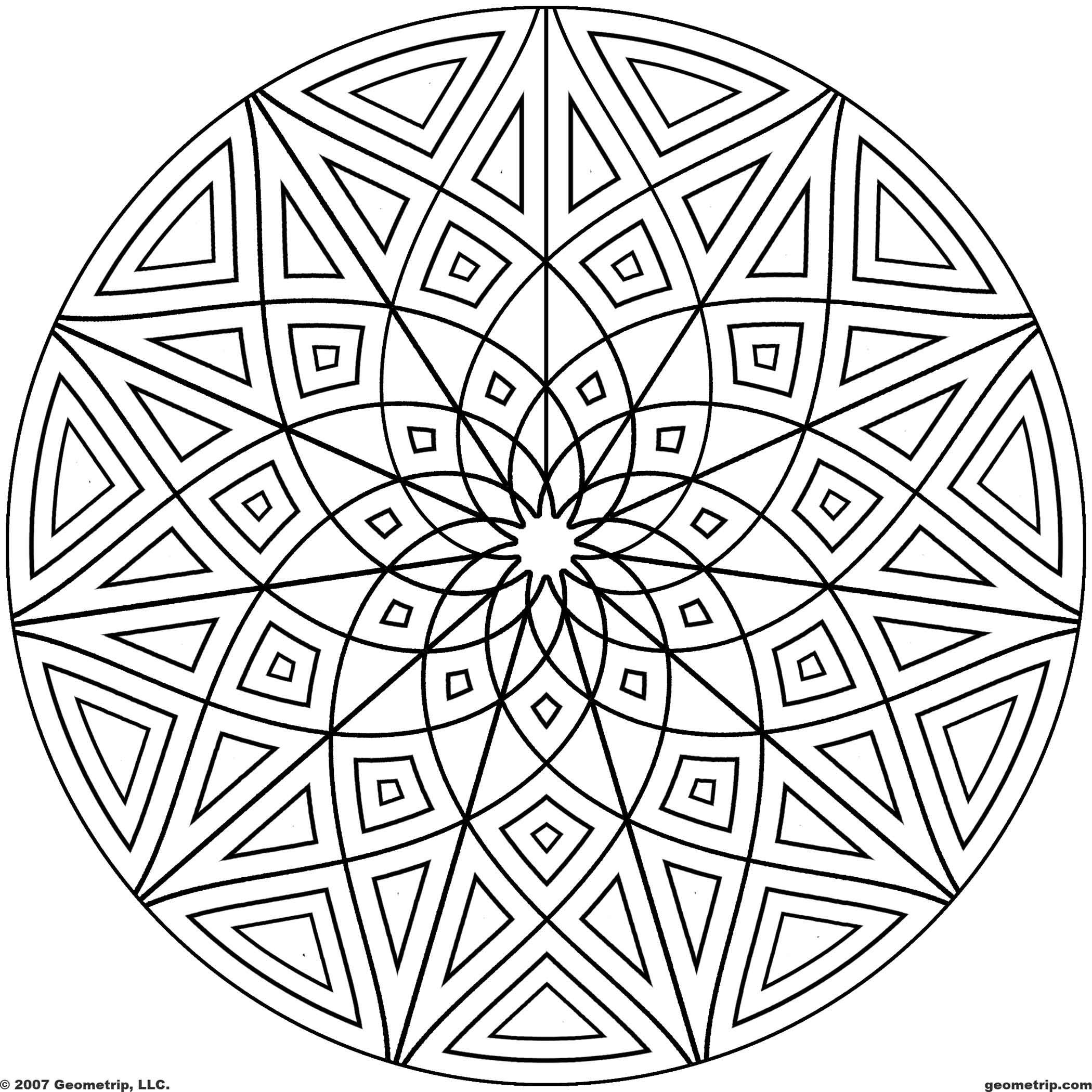 coloring pages with shapes free printable geometric coloring pages for kids with coloring shapes pages