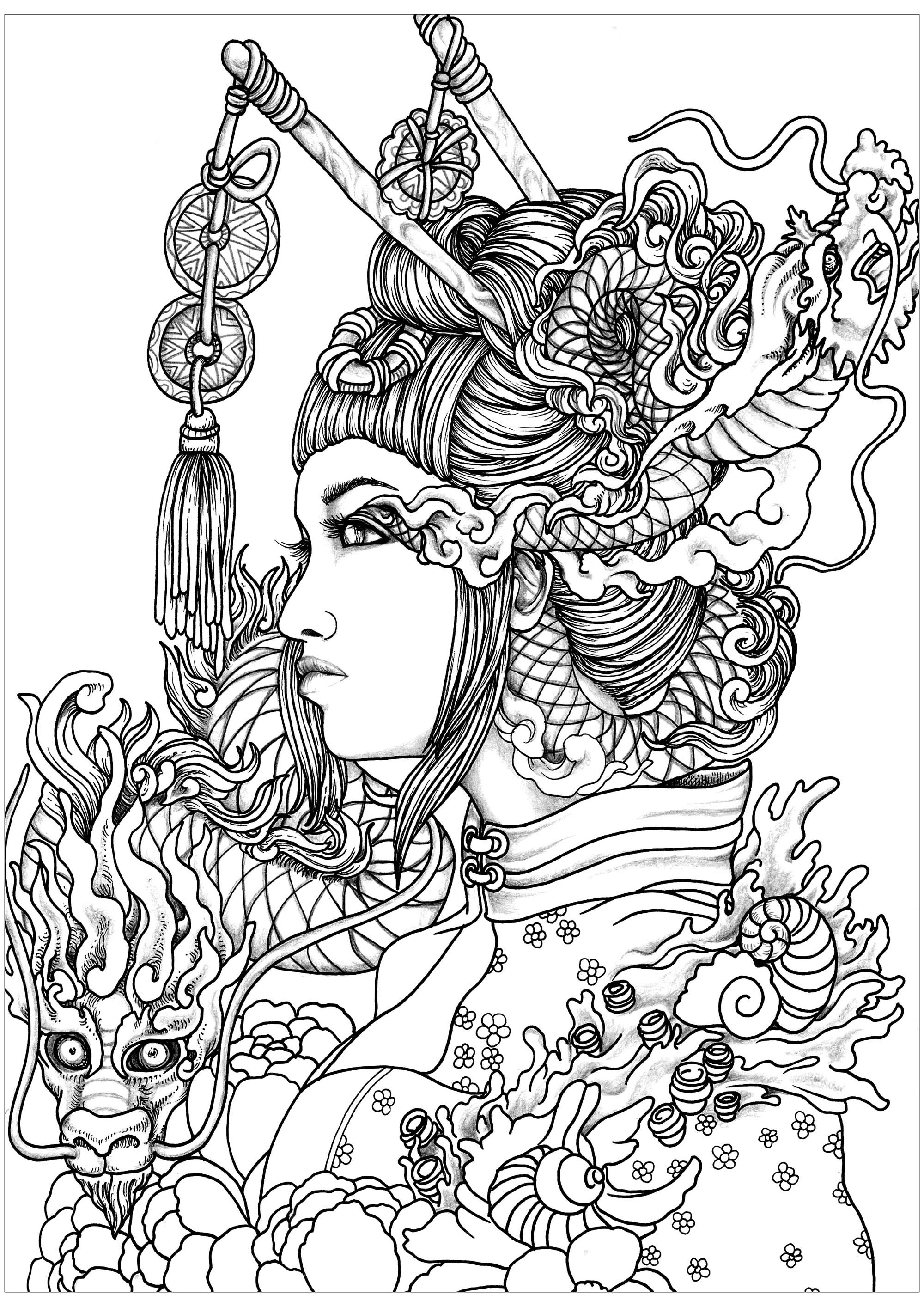 coloring pages women elegant woman coloring page free printable coloring pages coloring women pages
