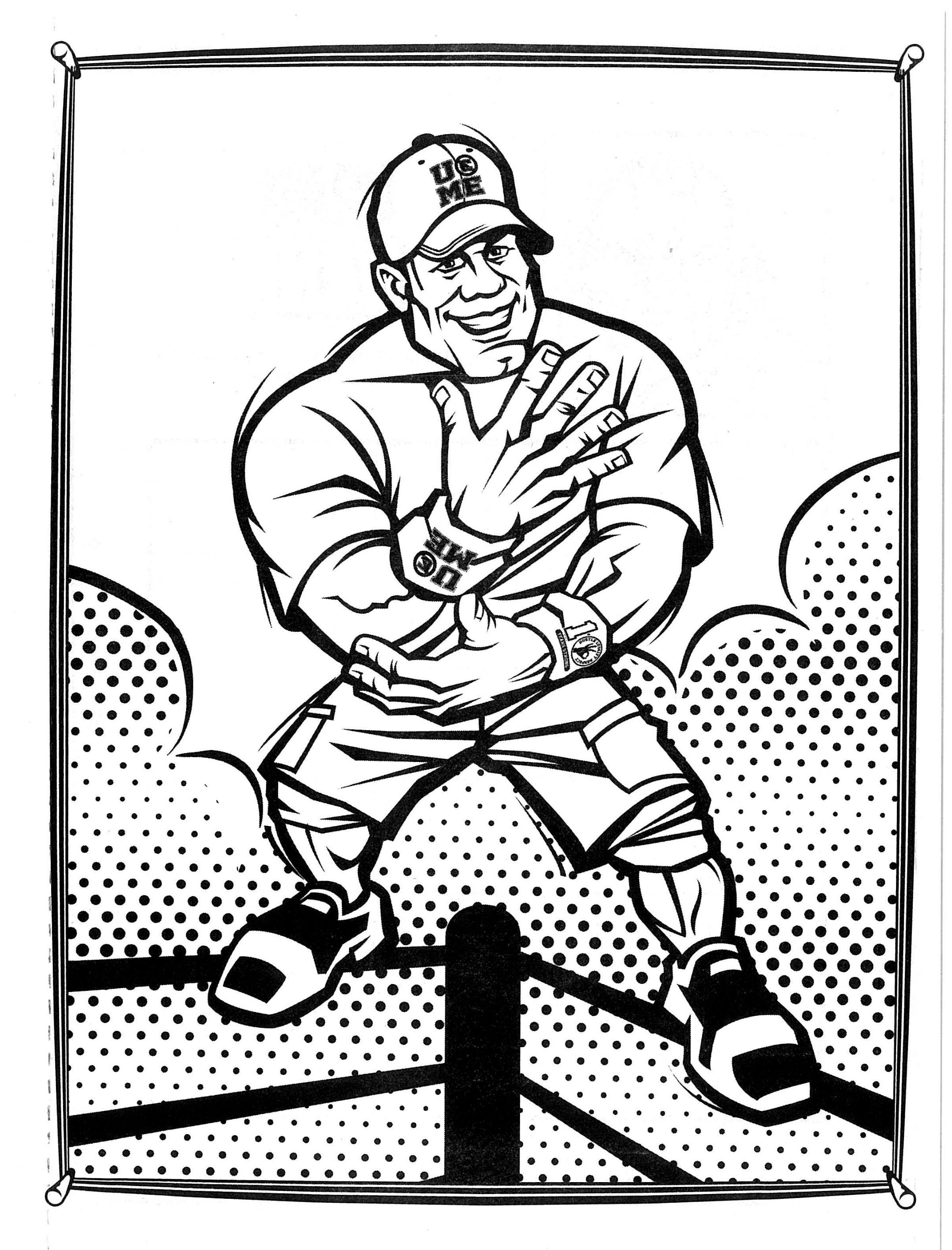 coloring pages wwe free printable wwe coloring pages for kids coloring wwe pages