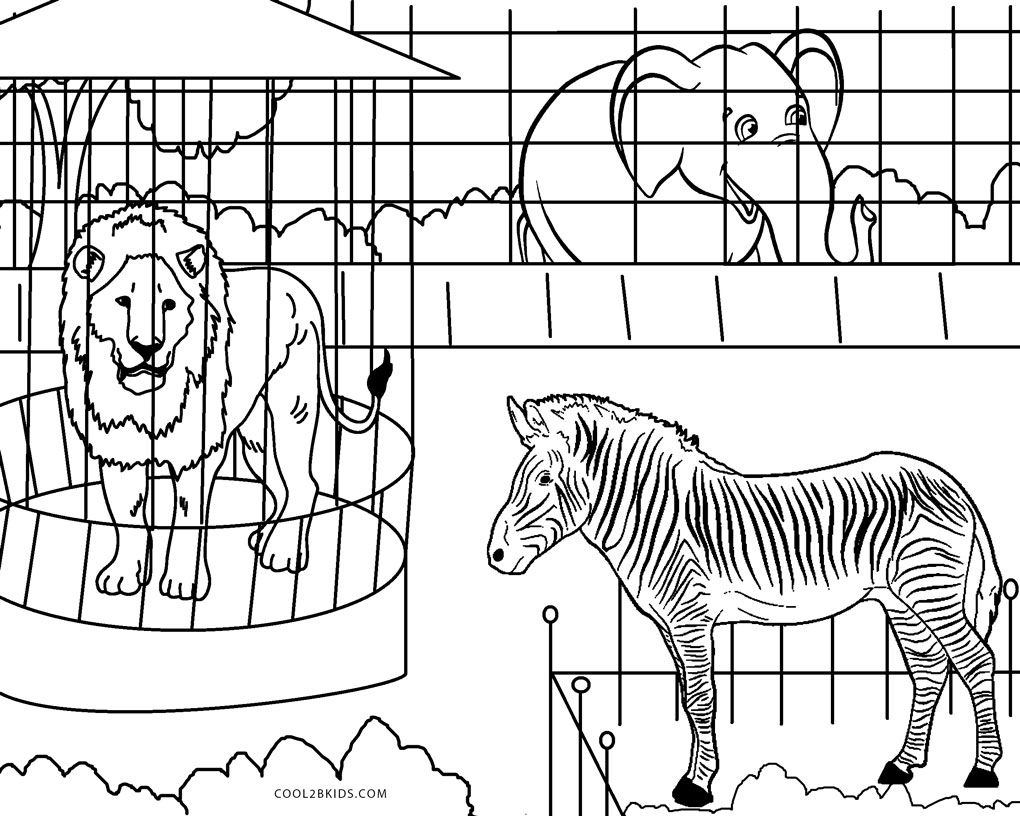 coloring pages zoo free printable zoo coloring pages for kids coloring zoo pages 1 1