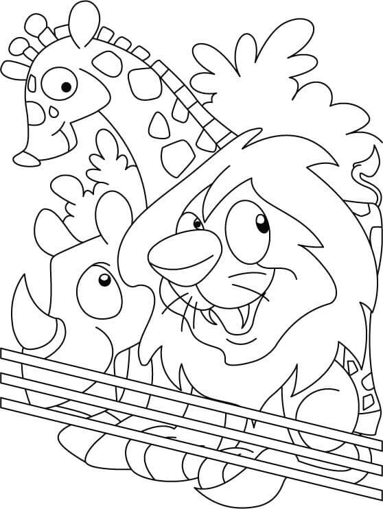 coloring pages zoo free printable zoo coloring pages for kids pages zoo coloring