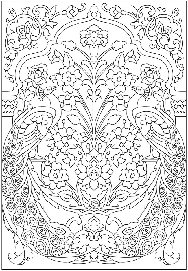 coloring peacock color page peacocks coloring pages download and print for free peacock coloring color page