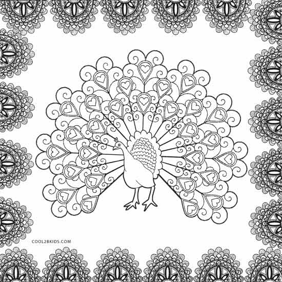 coloring peacock color page printable peacock coloring pages for kids coloring page color peacock