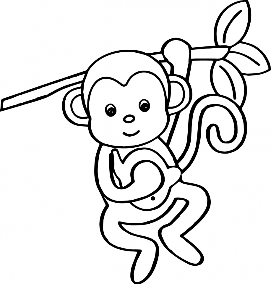 coloring pic of monkey coloring pages of monkeys kids learning activity of monkey pic coloring