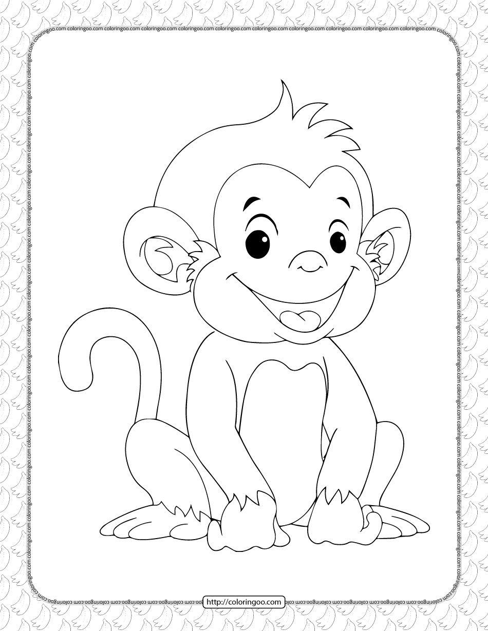 coloring pic of monkey cute monkey coloring pages monkey coloring pic of