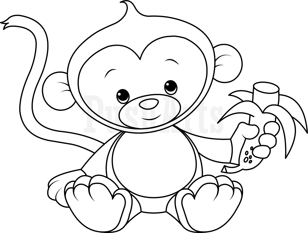 coloring pic of monkey easy and hard coloring pages of monkeys 101 activity pic monkey of coloring