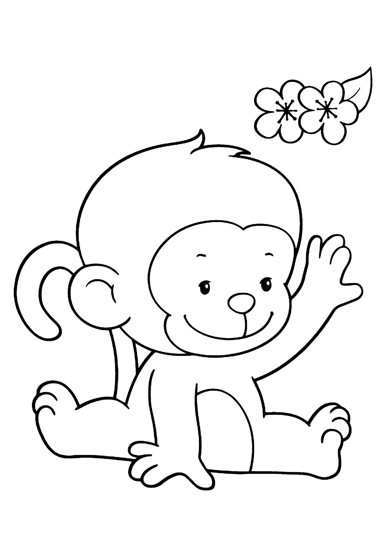 coloring pic of monkey monkeys for kids monkeys kids coloring pages monkey of pic coloring