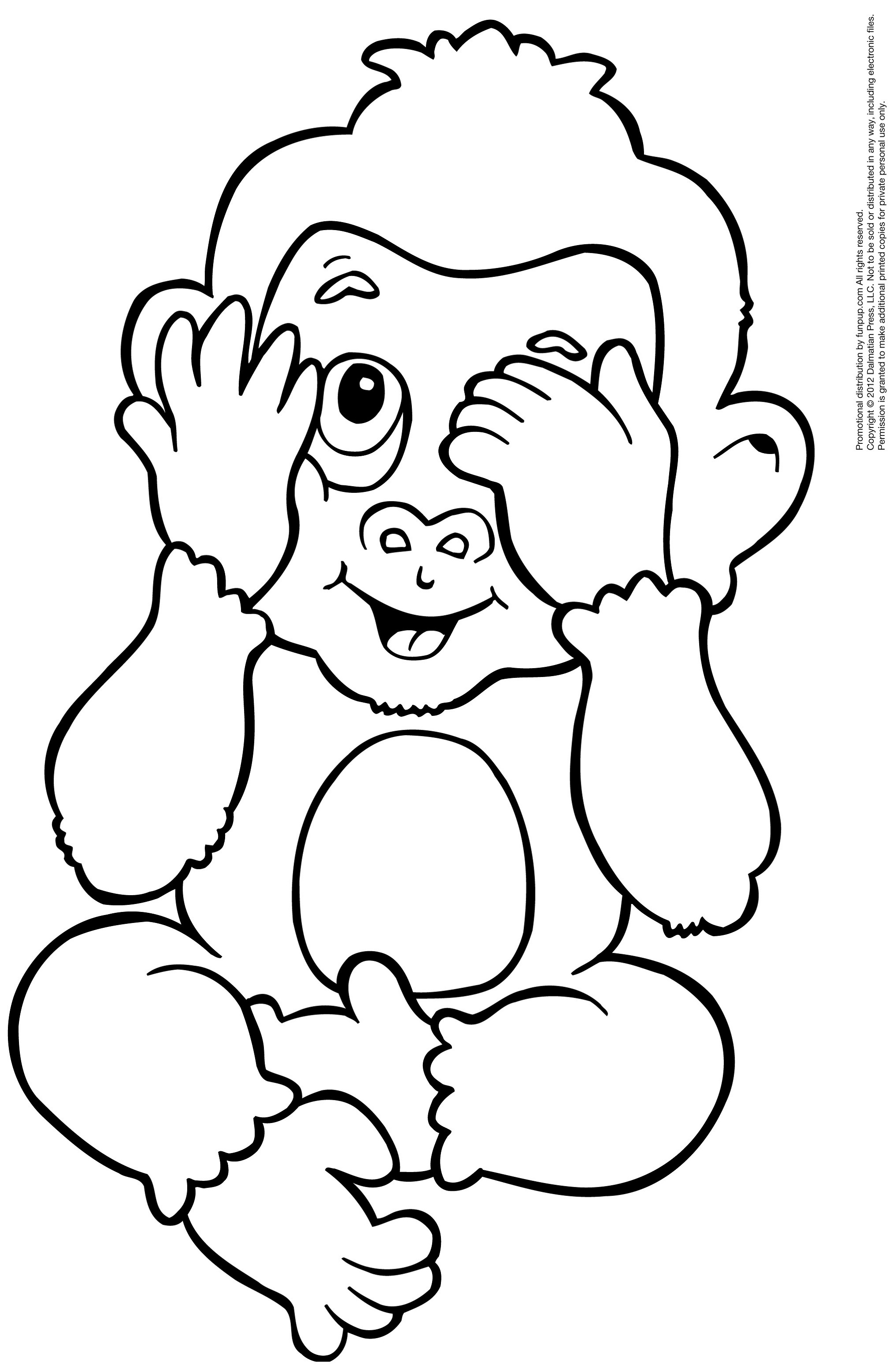 coloring pic of monkey monkeys to color for children monkeys kids coloring pages coloring monkey pic of