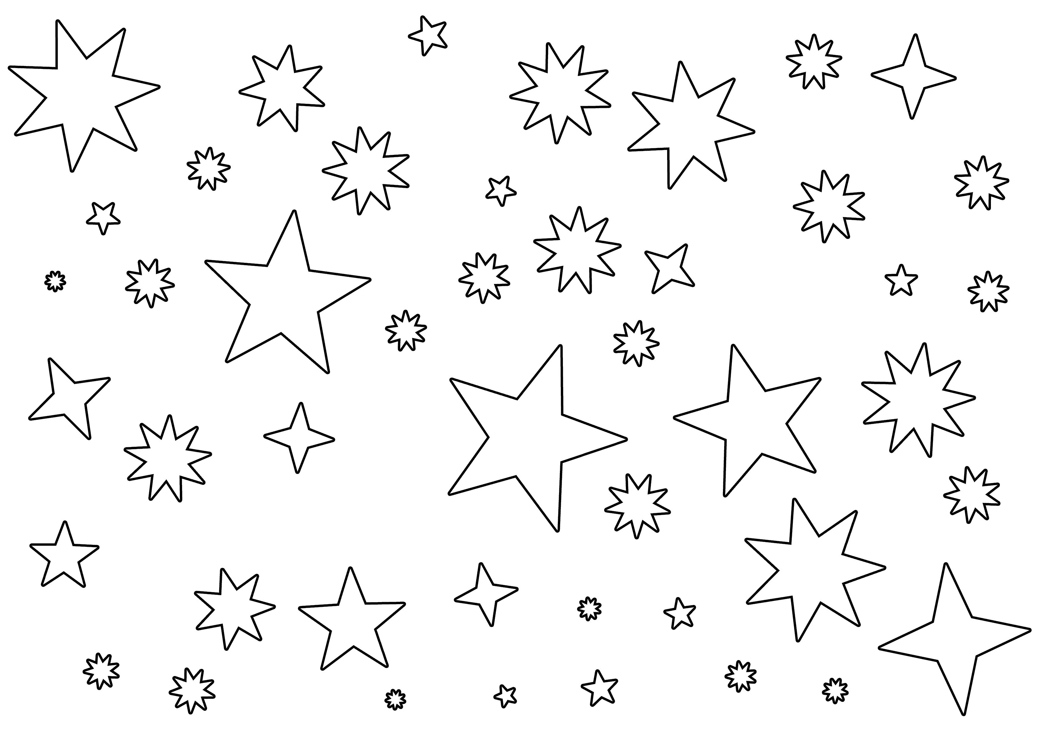 coloring pic of star 60 star coloring pages customize and print ad free pdf star pic coloring of