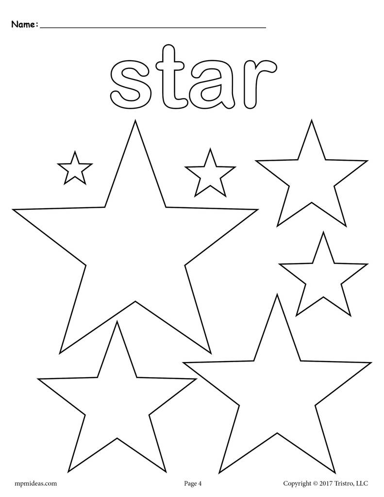 coloring pic of star free printable star coloring pages for kids coloring pic star of