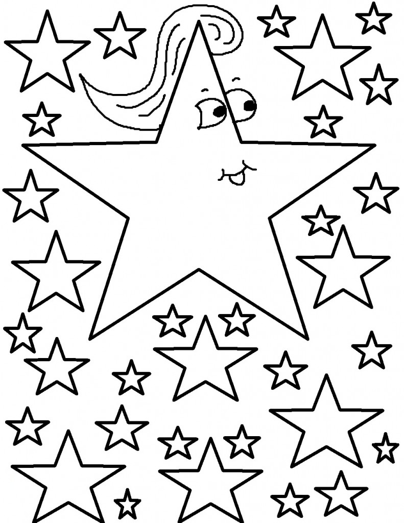 coloring pic of star free printable star coloring pages for kids of coloring star pic