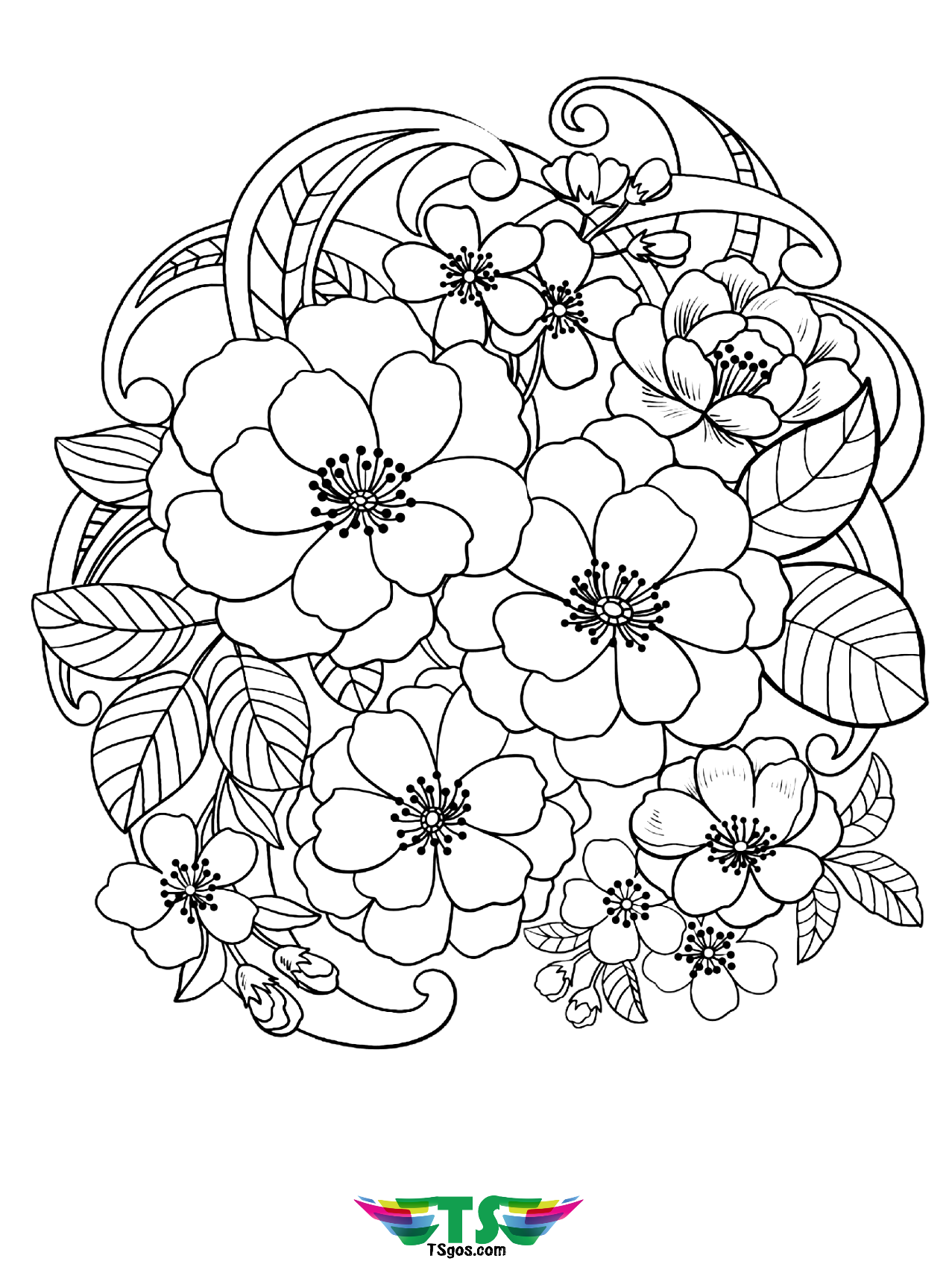 coloring pics of flowers free printable flower coloring pages for kids best coloring flowers of pics