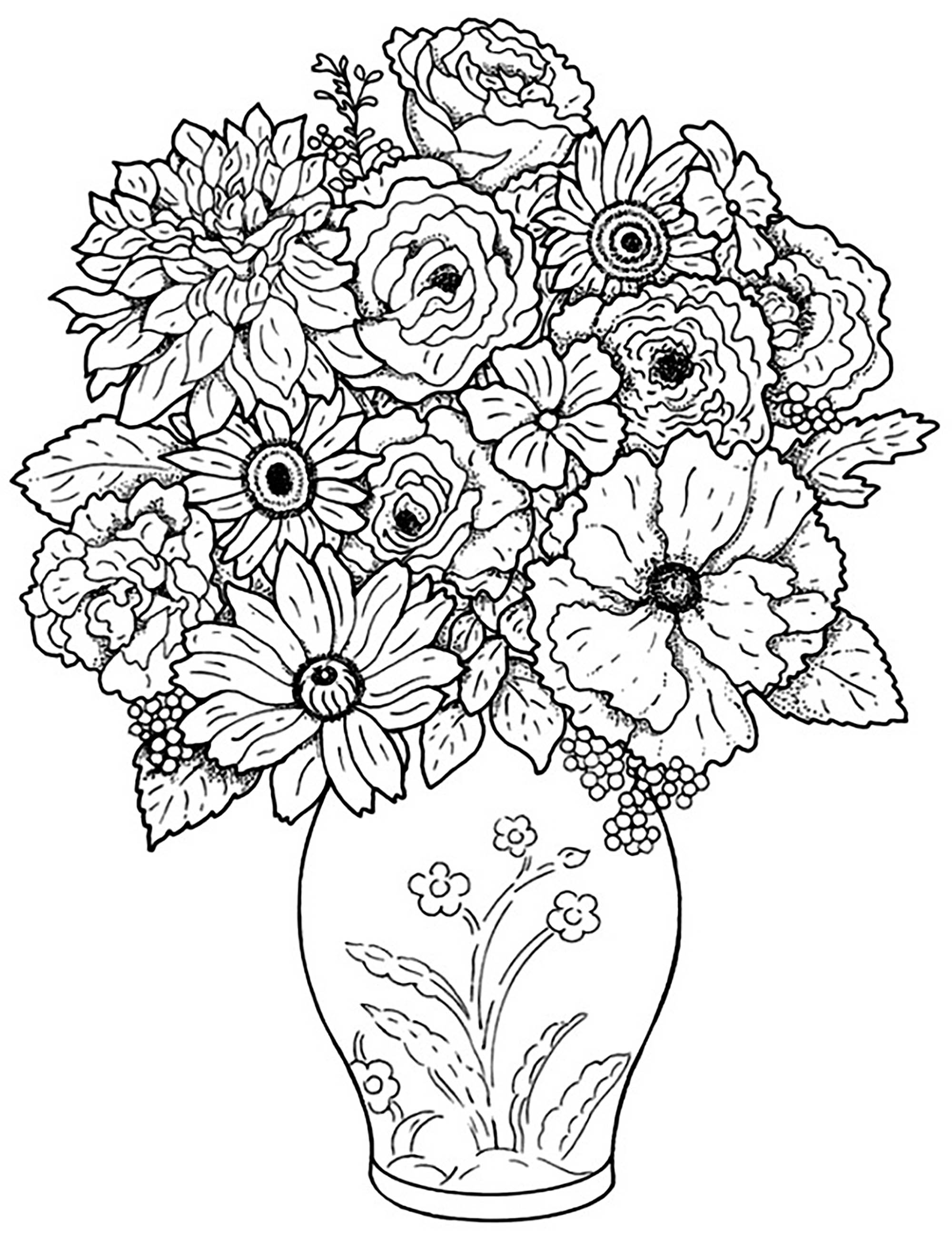 coloring pics of flowers free printable flowers pdf coloring pages 13 of coloring pics flowers
