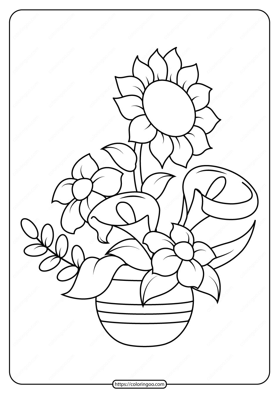 coloring pics of flowers print download some common variations of the flower of coloring flowers pics
