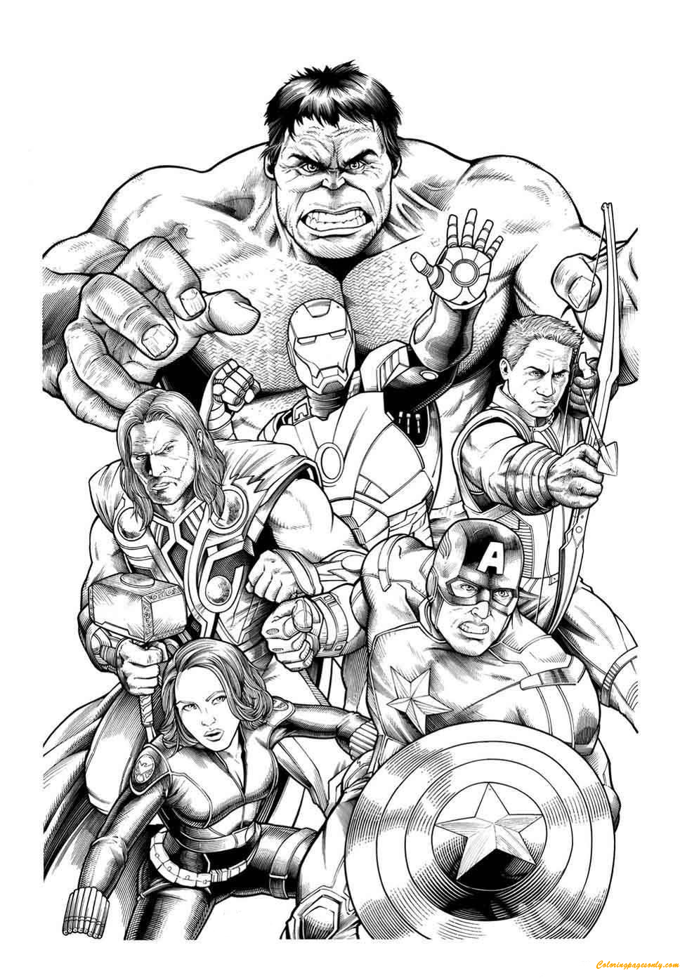coloring picture avengers team members of avengers coloring pages cartoons picture coloring avengers