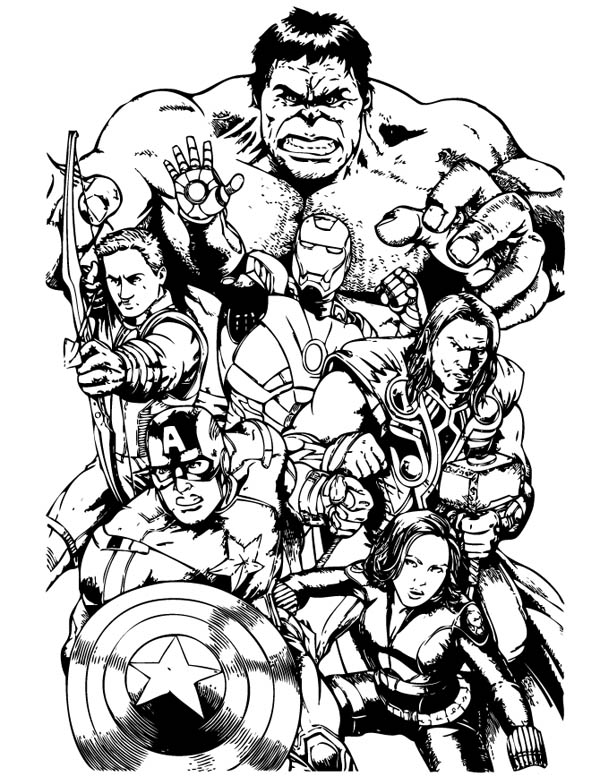 coloring picture avengers the avengers team assemble coloring page download coloring picture avengers