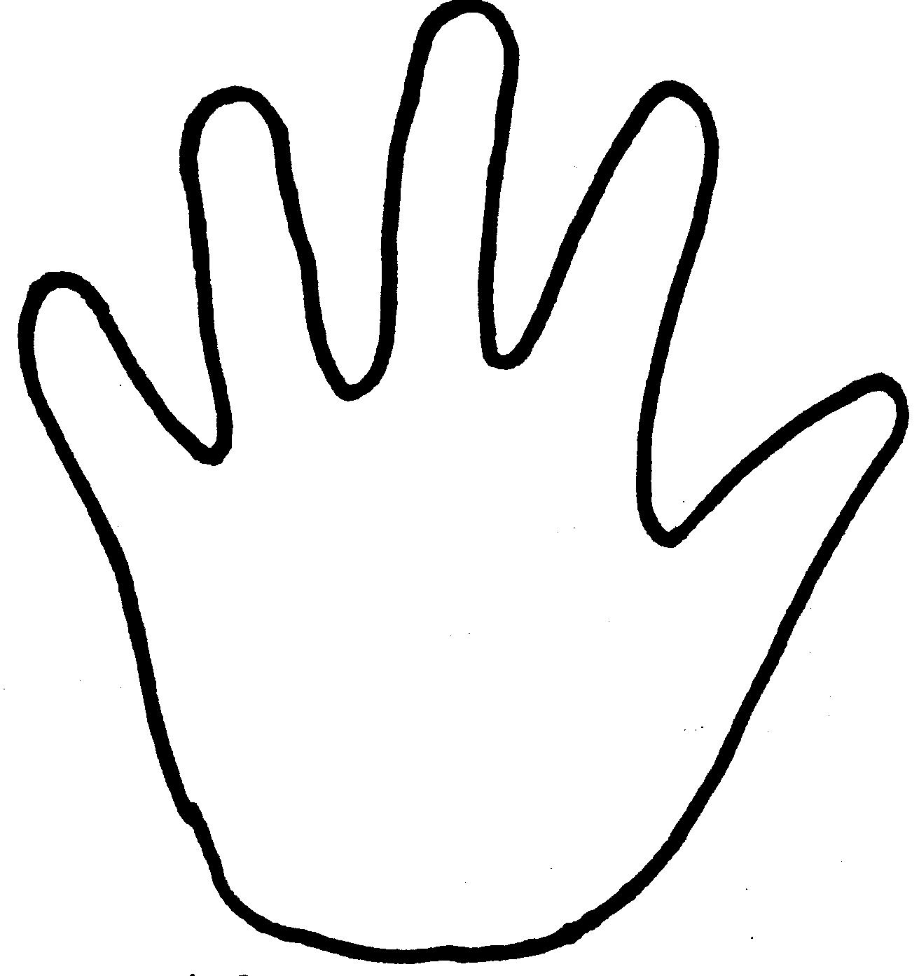 coloring picture hand best handprint outline 8327 clipartioncom picture coloring hand
