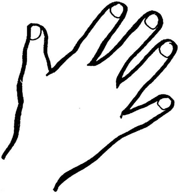 coloring picture hand hand coloring pages getcoloringpagescom hand picture coloring