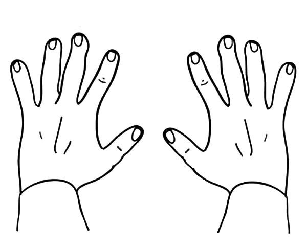coloring picture hand hand outline printable hand coloring page free picture coloring hand