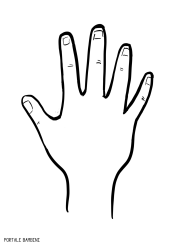 coloring picture hand hand print clip art at clkercom vector clip art online hand picture coloring