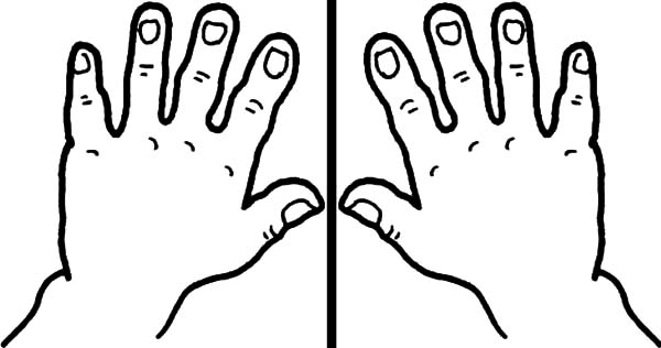 coloring picture hand hand template free download on clipartmag picture hand coloring