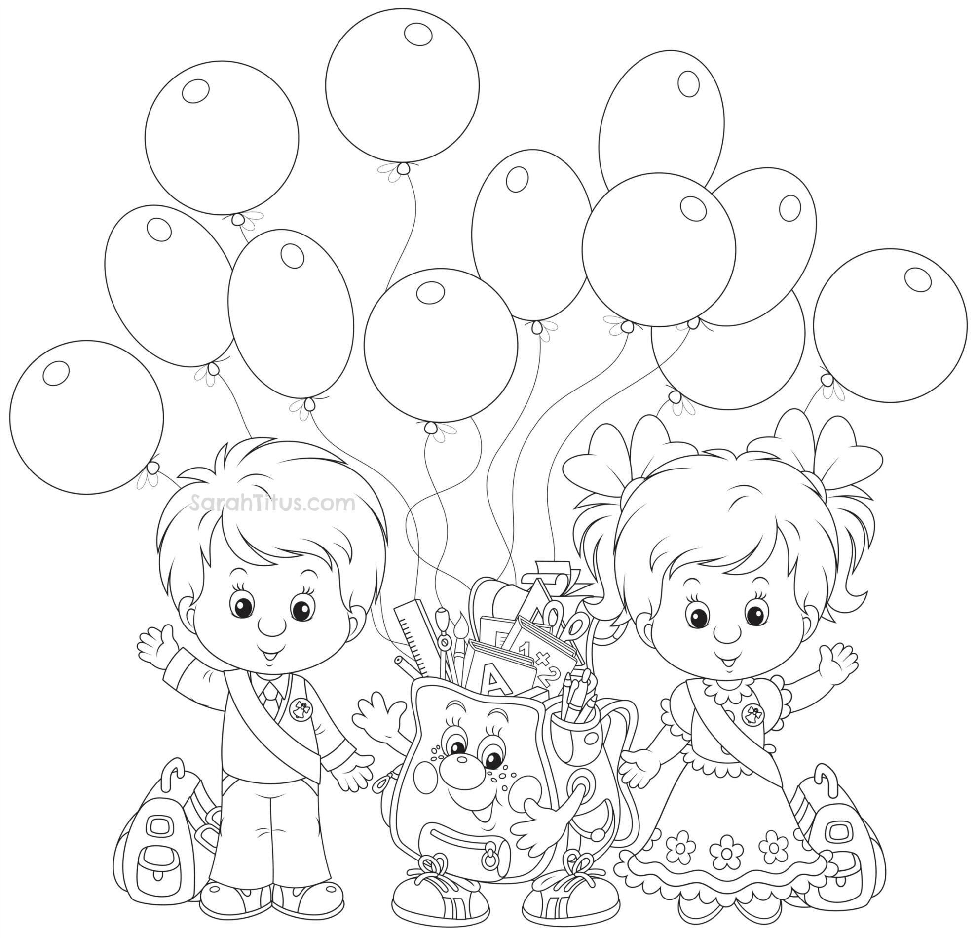 coloring picture kindergarten back to school coloring pages sarah titus coloring picture kindergarten