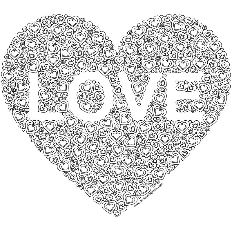coloring picture love don39t eat the paste heart love coloring page picture love coloring
