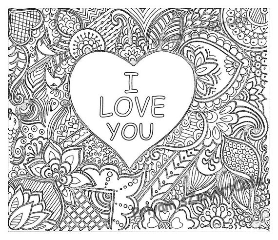 coloring picture love easy coloring page romantic gift i love you art love coloring picture love