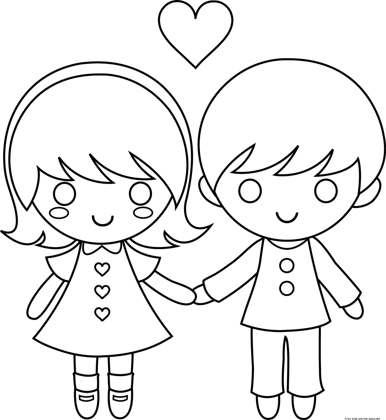 coloring picture love printable couple valentine day coloring pages for kidsfree coloring picture love