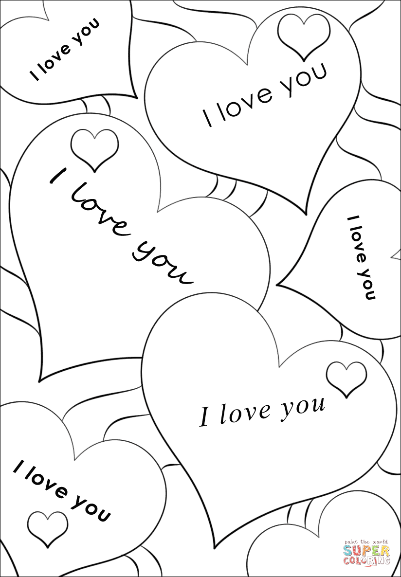 coloring picture love quoti love youquot card coloring page free printable coloring love coloring picture