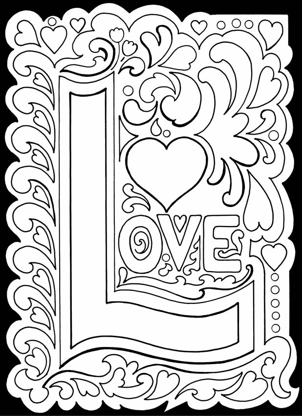 coloring picture love valentine39s day card quoti love youquot coloring page free picture coloring love