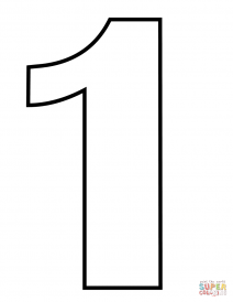 coloring picture number 1 picture of number one coloring page netart picture coloring 1 number