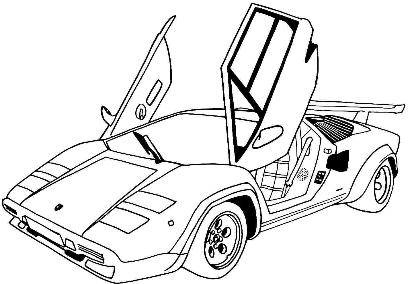 coloring picture of car free printable lamborghini coloring pages for kids picture of car coloring