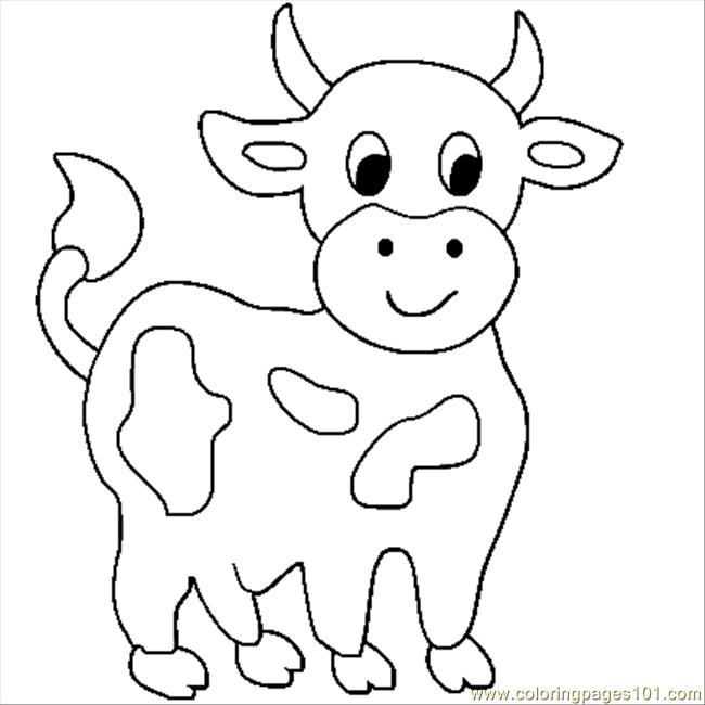 coloring picture of cow cute cartoon cow coloring page free printable coloring pages coloring of cow picture