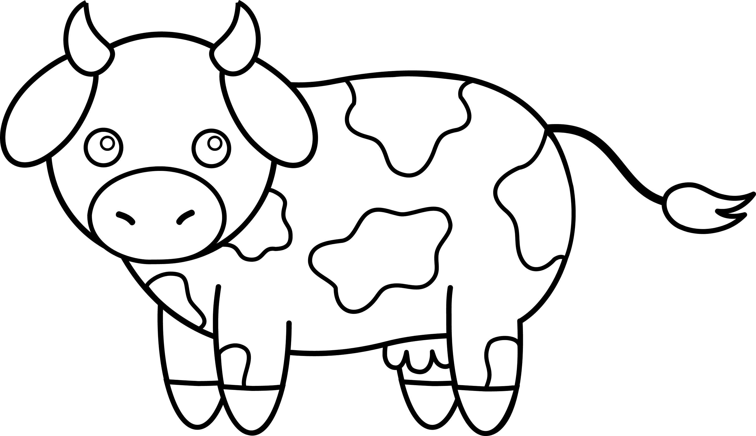 coloring picture of cow cute little cow coloring page netart cow picture coloring of