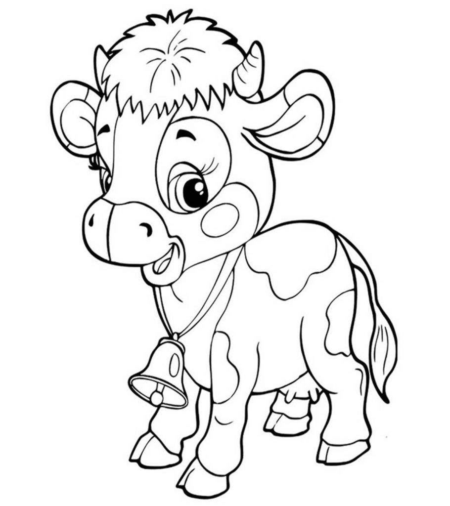 coloring picture of cow pictures of cartoon cows clipartsco coloring of cow picture