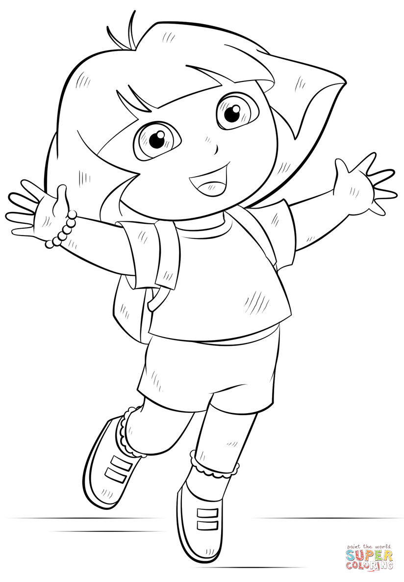 coloring picture of dora awesome dora coloring sheets coloring pages for kids on picture of coloring dora