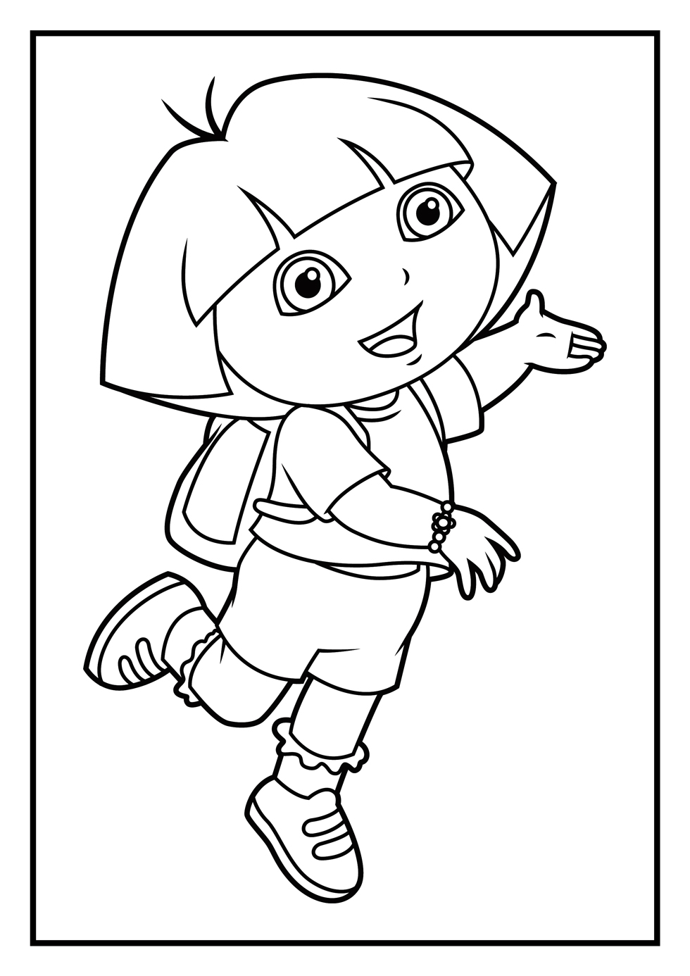 coloring picture of dora cute dora smiling coloring play free coloring game online dora coloring of picture