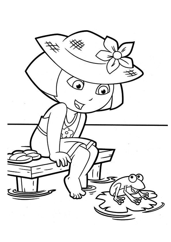 coloring picture of dora dora drawing games at getdrawings free download picture of dora coloring