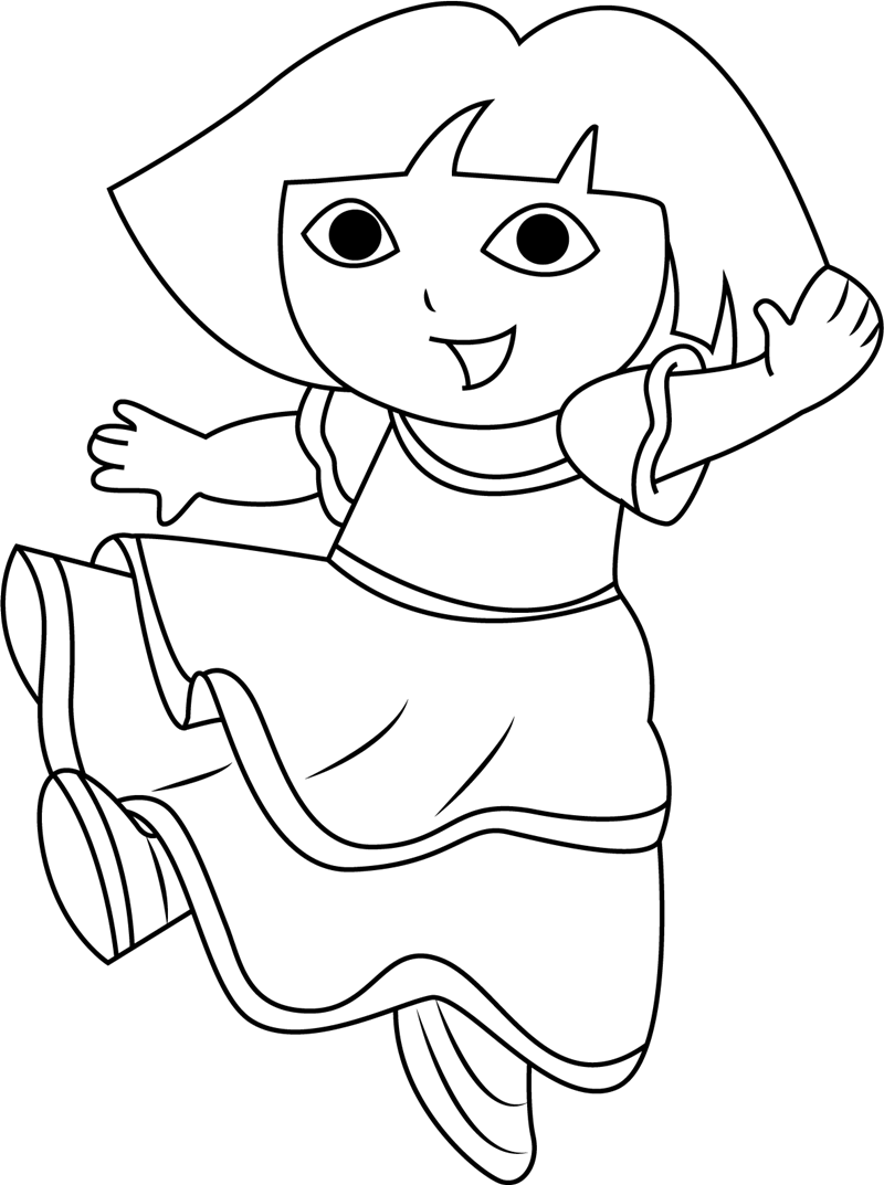 coloring picture of dora dora is dancing coloring play free coloring game online dora picture of coloring