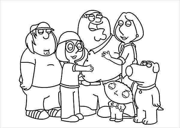 coloring picture of family 8 cartoon coloring pages jpg ai illustrator download family picture coloring of